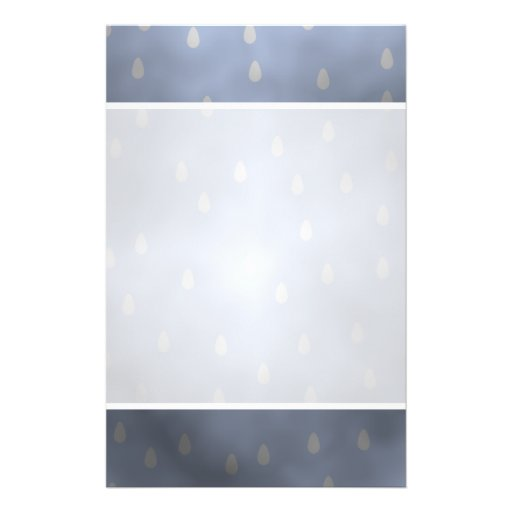 """Rainy cloudy stormy sky. Gray and Blue. 5.5"""" X 8.5"""" Flyer"""
