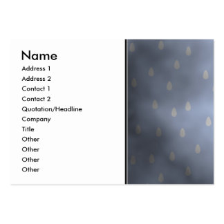 Rainy cloudy stormy sky. Gray and Blue. Large Business Card