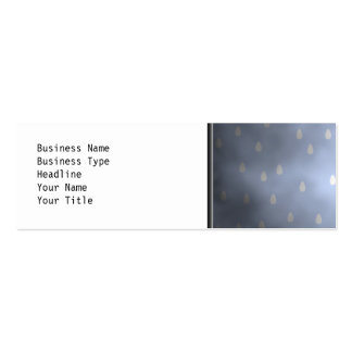 Rainy cloudy stormy sky. Gray and Blue. Mini Business Card