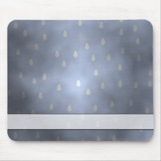 Rainy cloudy stormy sky. Gray and Blue. Mouse Pad