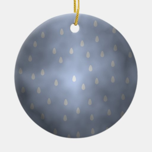 Rainy cloudy stormy sky. Gray and Blue. Ornament