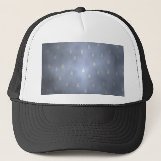 Rainy cloudy stormy sky. Gray and Blue. Trucker Hat