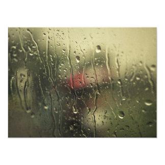Rainy day 6.5x8.75 paper invitation card