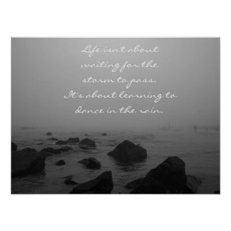 Rainy Day at the Beach Poster