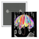 Rainy Day At The Zoo Pinback Buttons
