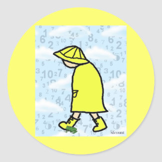 Rainy Day Boy Sticker