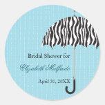 Rainy Day Bridal Shower Sticker