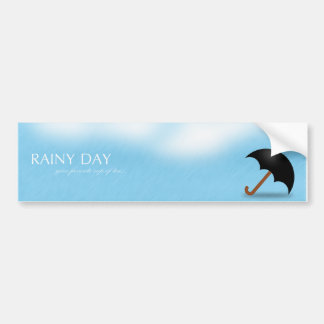 Rainy Day Bumper Sticker