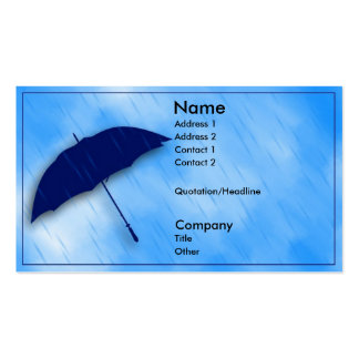 Rainy Day Double-Sided Standard Business Cards (Pack Of 100)