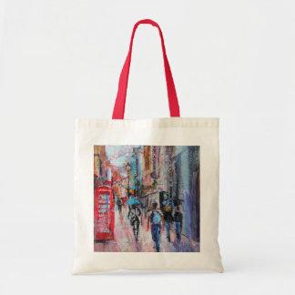 Rainy Day Carnaby Street Tote Bag