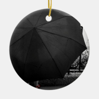 Rainy Day Ceramic Ornament