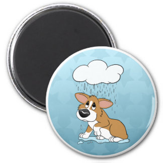 Rainy Day Corgi Magnet
