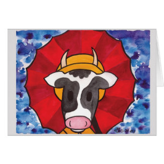 Rainy Day Cow1 Greeting Card
