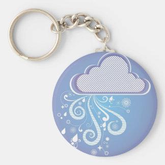 Rainy Day Design Basic Round Button Keychain
