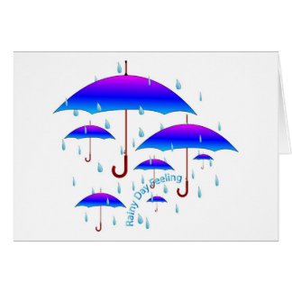 Rainy Day Feeling Card