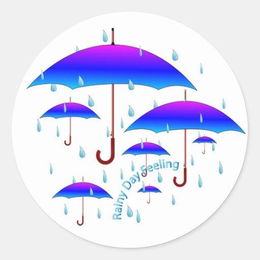 Rainy Day Feeling Classic Round Sticker