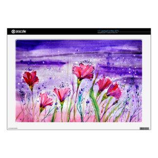 "Rainy Day Flowers 17"" Laptop Skin"