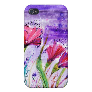 Rainy Day Flowers iPhone 4 Cover