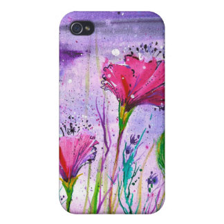 Rainy Day Flowers Case For iPhone 4