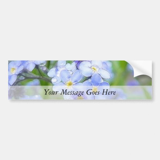 Rainy Day Forget Me Nots Bumper Sticker
