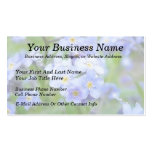 Rainy Day Forget Me Nots Business Cards