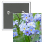 Rainy Day Forget Me Nots Buttons