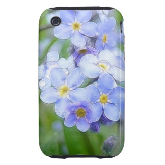 Rainy Day Forget Me Nots iPhone 3 Tough Cases