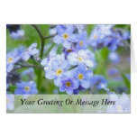 Rainy Day Forget Me Nots Greeting Cards