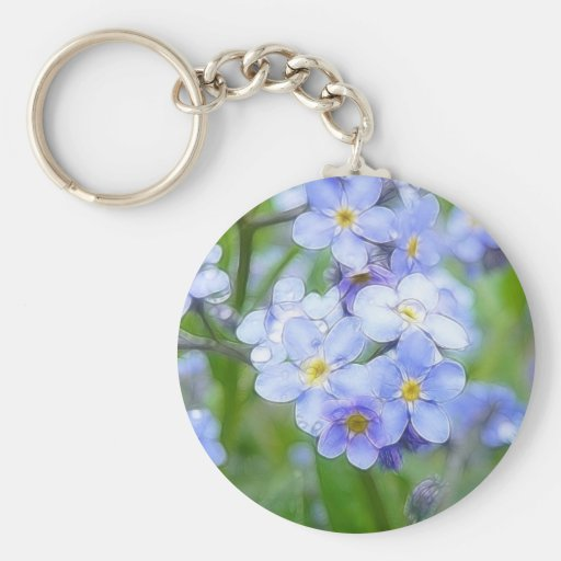 Rainy Day Forget Me Nots Keychain