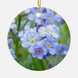 Rainy Day Forget Me Nots Ornaments