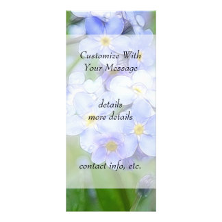 Rainy Day Forget Me Nots Rack Cards