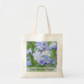 Rainy Day Forget Me Nots Tote Bag