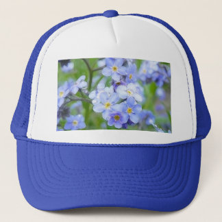 Rainy Day Forget Me Nots Trucker Hat