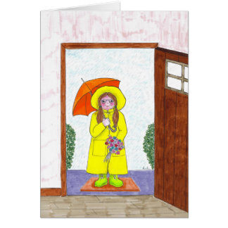 Rainy day friends card