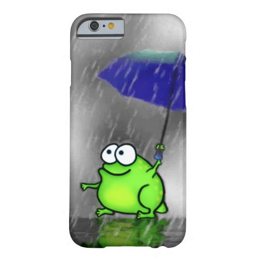 Rainy Day Frog Barely There iPhone 6 Case