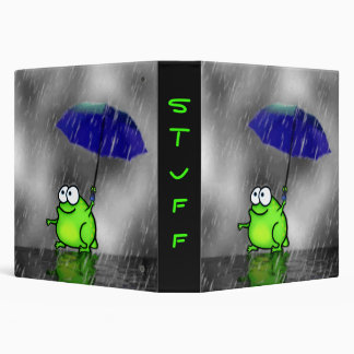 Rainy Day Frog Binder