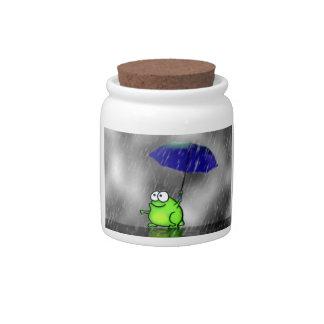 Rainy Day Frog Candy Dish