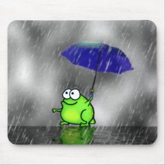 Rainy Day Frog Mousepad