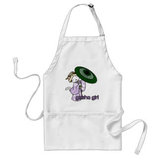 Rainy Day Geisha Kitty Adult Apron