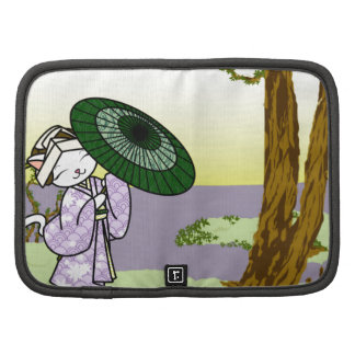 Rainy Day Geisha Kitty Folio Planner
