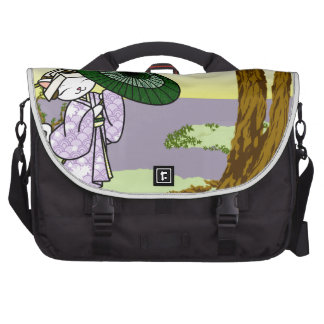 Rainy Day Geisha Kitty Laptop Bags