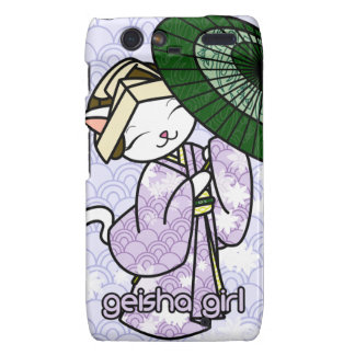 Rainy Day Geisha Kitty Motorola Droid RAZR Covers