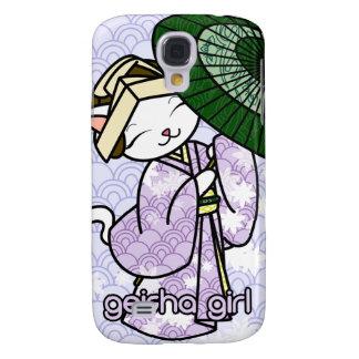 Rainy Day Geisha Kitty Samsung Galaxy S4 Covers