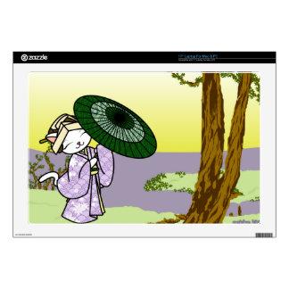Rainy Day Geisha Kitty Skin For Laptop