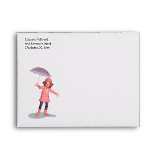 Rainy Day Girl A2 Envelope