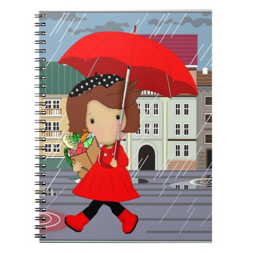 Rainy Day Girl Notebook