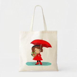 Rainy Day Girl Tote Bag