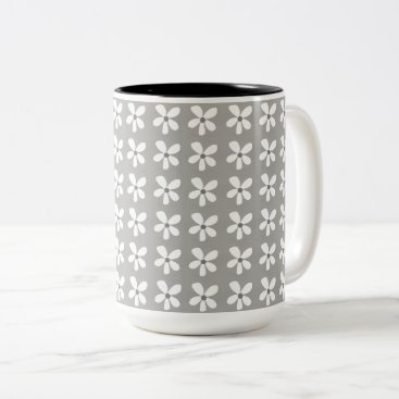 Beach Themed Rainy-Day-Grey-Daises-Coffee-Travel-Mugs & More Two-Tone Coffee Mug
