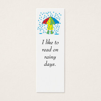 rainy day, I like to read on rainy days. Mini Business Card
