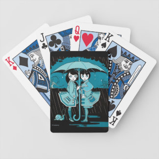 Rainy Day in Blue Bicycle Playing Cards